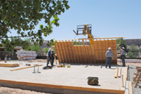 Bluff Fort Co-op walls begin on May 23, 2012.