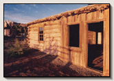The Barton Cabin is the oldest pioneer structure in San Juan County. Lamont Crabtree Photo