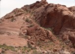 The Dugway -- Most of this section of the road up Cottonwood Hill was blasted out of the sandstone. Lamont Crabtree Photo