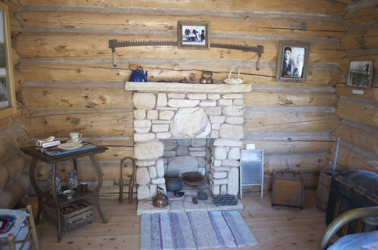 Perkins Cabin Fireplace